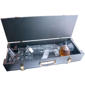 Caisse de Vodka RED ARMY Kalashnikov - caisse en bois (Vodka)