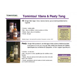 TOMINTOUL PEATY TANG 40°