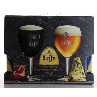Bouteille de bière COFFRET LEFFE 4B 33CL 2VERRES