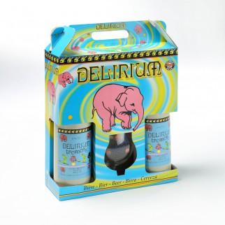 Bouteille de bière Coffret Delirium 75cl 2bt 1verre