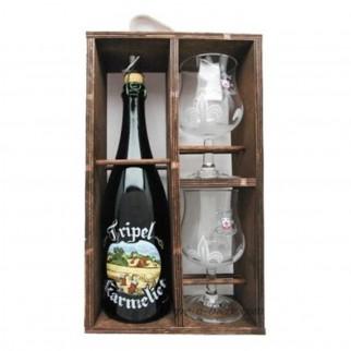 Bouteille de bière COFFRET KARMELIE 1X75CL 2VERRES NV