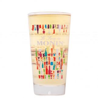 Sublime Verre Monin qui illustre dignement les 140parfums de la marque Monin. Un design représentant l'univers de la marque et le monde du sirop.
